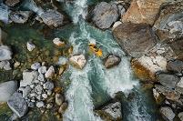 Kayaking. City: Wassen State: Uri Country: Switzerland River: Reuss River