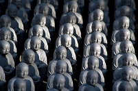 Numerous Jizo statuettes at Hasedera temple