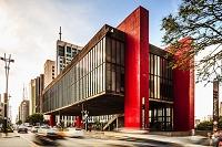 Brazil, S?o Paulo, San Paulo, S?o Paulo Museum of Art, Museu de Arte de S?o Paulo (MASP) by Oscar Niemeyer, Avenida Paulista photo by Antonino Bartuccio/SIME