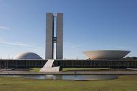 Brazil, Brasilia, listed as World Heritage by UNESCO, National Congress, architecture Oscar Niemeyer