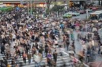 Japan, Kanto, Tokyo, Tokyo street scene, near Shibuya, Photo by Tim Draper/SIME