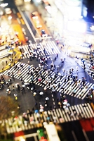 Shibuya crossing by night, Photo by Maurizio Rellini/SIME