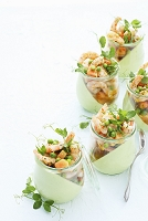Prawn salad with papaya