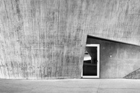 Shot of a door, minimalist, modern architecture Photo by Steve Simon