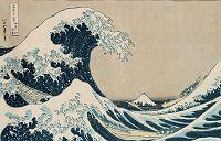 Title: The Great Wave of Kanagawa, from the series '36 Views of Mt. Fuji' ('Fugaku sanjuokkei') pub. by Nishimura Eijudo (woodblock print) Artist: Hokusai, Katsushika (1760-1849) Location: Private CollectionMedium: w