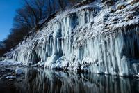 長野県 白川の氷柱群