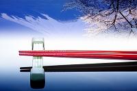 逆さ富士と箸