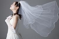 胸に手を当てる花嫁