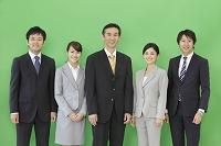 スーツを着た男性と女性の合成用素材