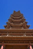 中国 シルクロード 張掖 万寿寺木塔