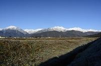 長野県 大町市 初冬の後立山連峰