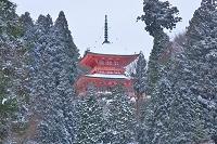 滋賀県 雪の比叡山延暦寺