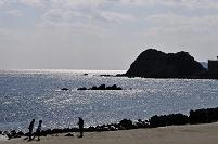 徳島県 鳴門公園口から逆光の鳴門海峡