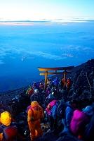 山梨県 富士登山 頂上の鳥居