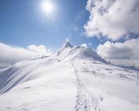 上州武尊山 雪山登山 剣ヶ峰山
