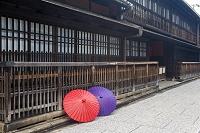 京都府 角屋と和傘