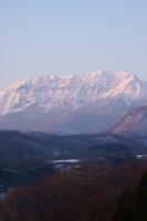 鳥取県 赤く染まる大山