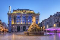 フランス モンペリエ コメディ広場とオペラハウス