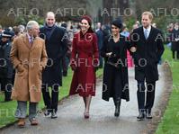 イギリス王室一家 クリスマス礼拝