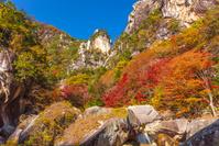 山梨県 紅葉の昇仙峡 覚円峰