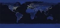 大陸の夜景