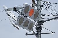 積雪防止のLED信号機