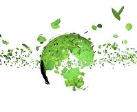 舞い散る葉っぱと地球