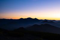 大黒岳から見る御来光 穂高連峰