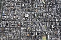 京都市 上京区 整然と区画された街並