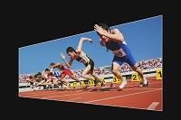 飛び出す陸上競技イメージ