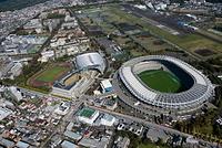 味の素スタジアムと武蔵野の森総合スポーツプラザ周辺