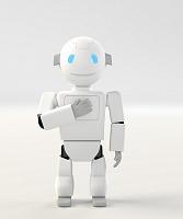 胸に手をあてるロボット CG