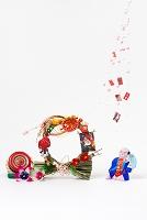 小幡土人形馬持ち童子と正月飾り
