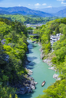 長野県 新緑の天竜峡
