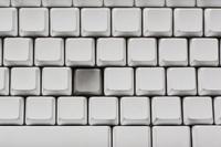 一つだけ凹んでいるキーボード