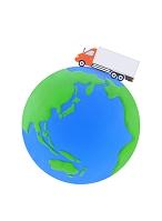 大型トラックと地球