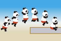 おもしろパンダ(走幅跳)