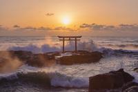 茨城県 大洗海岸 神磯の鳥居