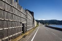 石川県 門前町 間垣のある風景