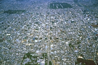 京都市内(碁盤目状の街路)