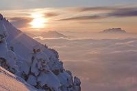 スイス 夕日と雲海