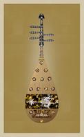 螺鈿紫檀五弦琵琶(表)模写