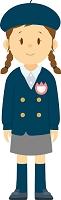制服を着た女子幼稚園生の全身