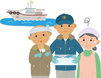 高齢化に悩む漁業従事者