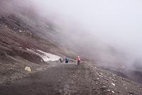 山梨県 富士登山 九合目