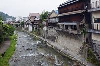 愛知県 足助の町並みと足助川