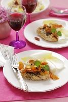 鶏肉料理とワイン
