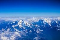 機中よりヒマラヤ山脈