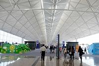 中国 香港国際空港の待合室