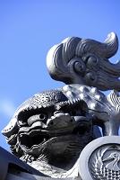 兵庫県 花岳寺 獅子の飾り瓦